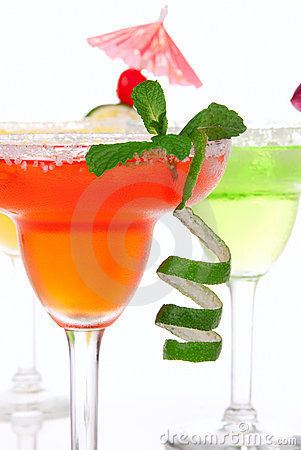 Free Red Lime, Apple Margaritas Cocktails Composition Stock Images - 18249994