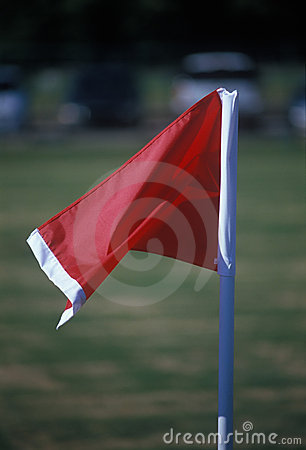 Free Red Linesman Flag Stock Image - 1355001