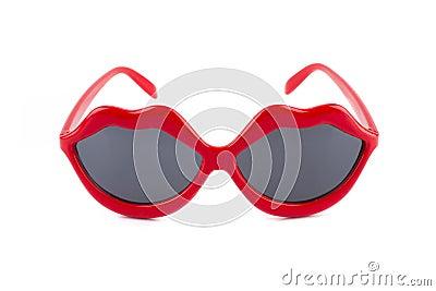 Red lips sunglasses