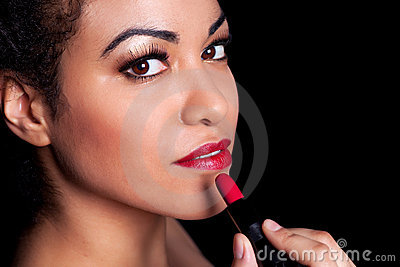 Red Lipstick Beauty Royalty Free Stock Image - Image: 13285966