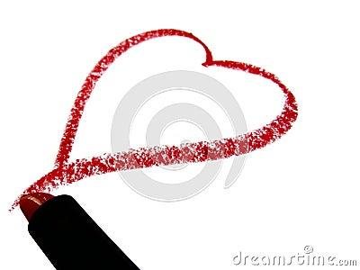 Red Lipstick Heart