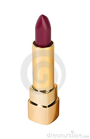 Red lipstick isolated on white