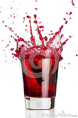 Free Red Liquid Splash Stock Photography - 1952682