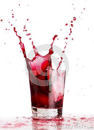 Free Red Liquid Splash Stock Images - 2076494
