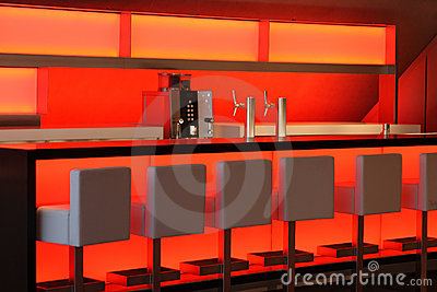 Red Lit Bar