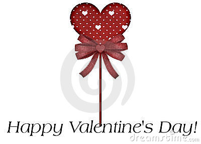 Red Lollipop Happy Valentine s Day Card