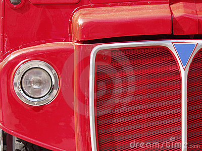 Red London Bus Grille