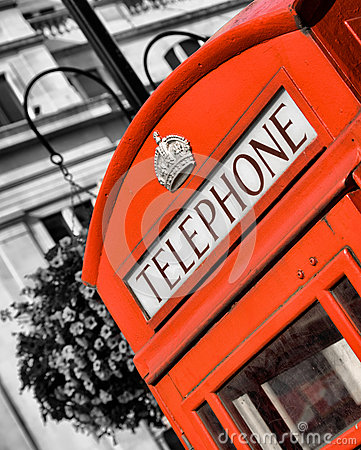 Free Red London Telephone Box Royalty Free Stock Images - 27824329