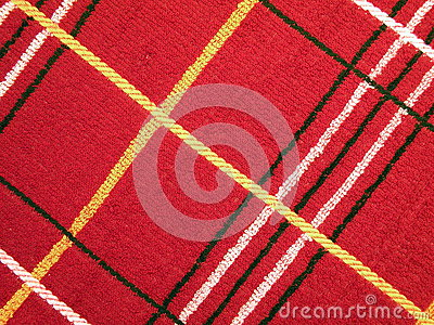Red loopy fabric