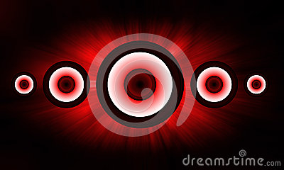 Red Loudspeaker background