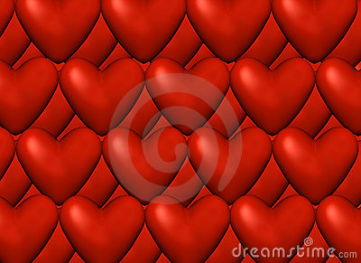 Red Love Background