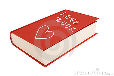 Red love-book isolated on a white background