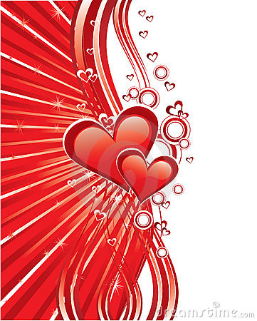Red love greeting cards