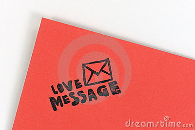 Red love message