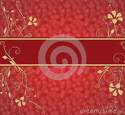 Red luxurious background with place for text