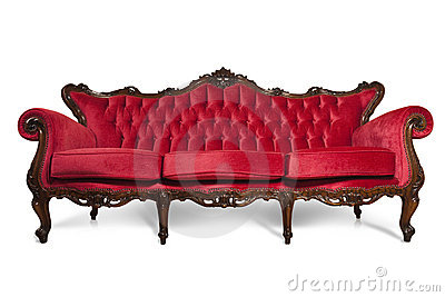 Red Luxurious Sofa