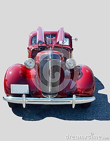 Red luxury vintage car