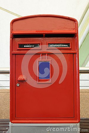 Red mail box in London