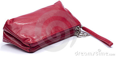 Red makeup bag