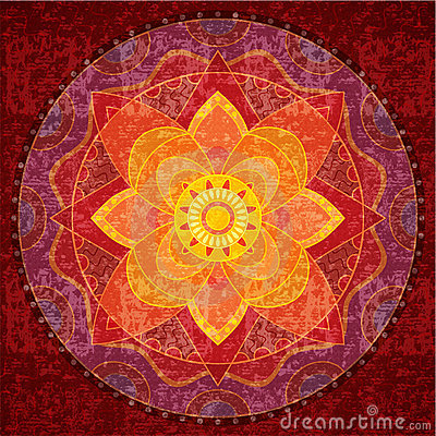 Red mandala Stock Photo