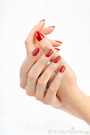 Free Red Manicure Stock Image - 9612081