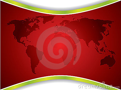 Red map backdrop