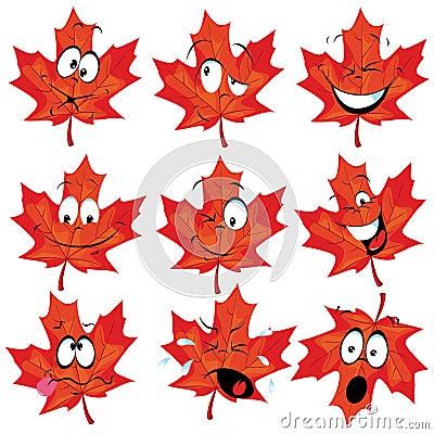 Red maple leaf mascot