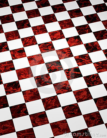 Red Marble Checkered Background