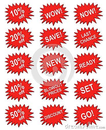 Red marketing banner