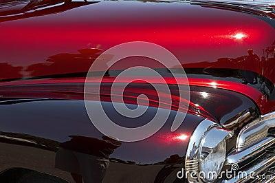 Red Amp Maroon Custom Car Royalty Free Stock Image Image