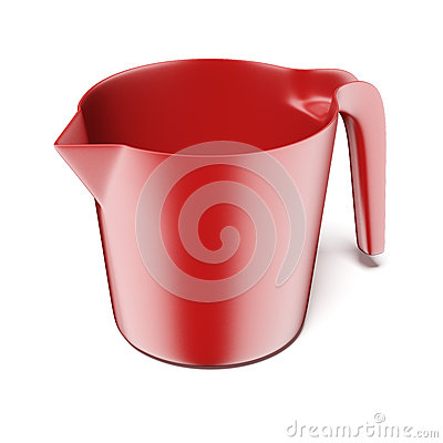 Red measuring plastic bowl