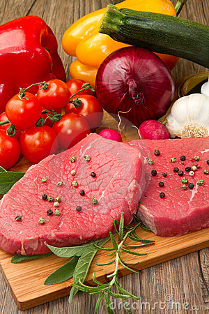 Free Red Meat With Vegetables Royalty Free Stock Photography - 19191757