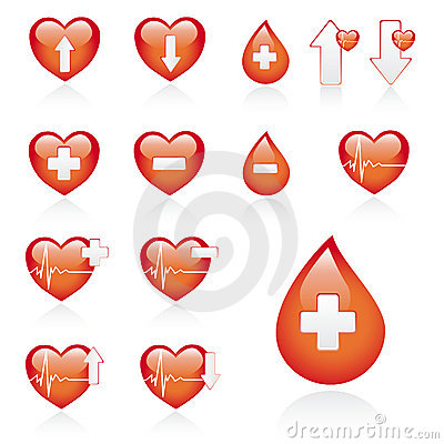 Red Medical Icon Set Stock Photos - Image: 9228893