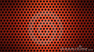Red metal grid or grilled background