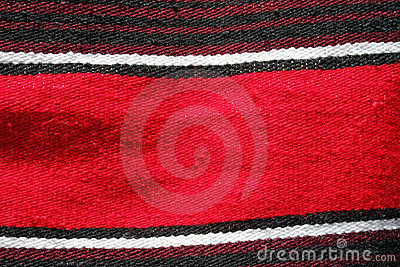 Red Mexican serape or blanket