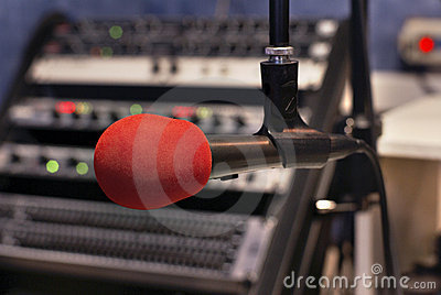Red microphone