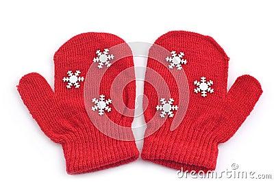 Red mittens