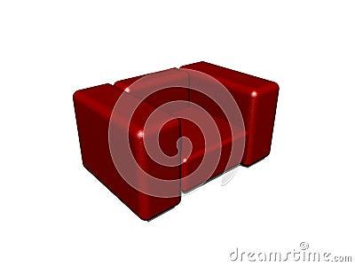 Red modern chair