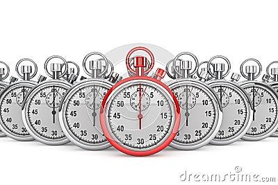Red modern Stopwatch