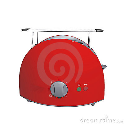 Red modern toaster