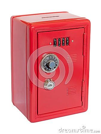 Red moneybox safe