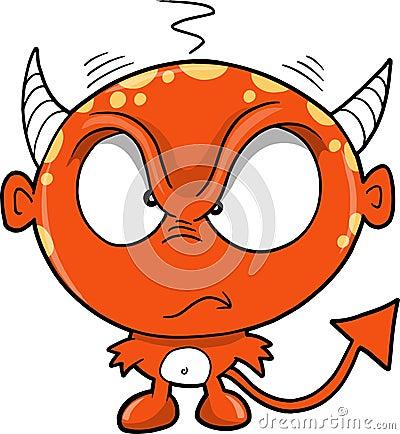 Red Monster Devil Vector