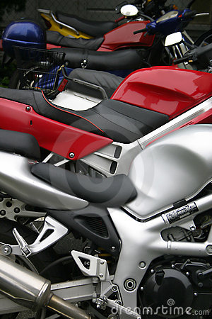 Free Red Motorcycle Stock Photography - 491632