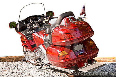 Red Motorcycle Isolated