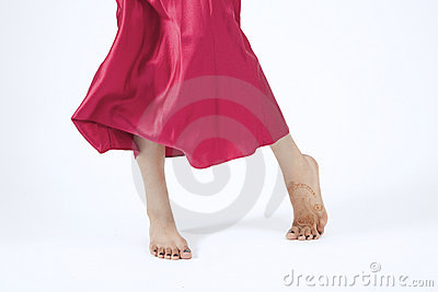 Red Moving Skirt and feet
