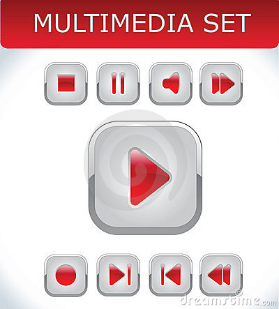Red multimedia set