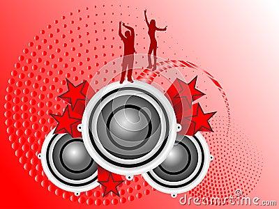 Red Musical Illustration