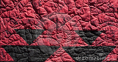 Red Native Pattern Quilt Background