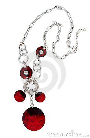 Free Red Necklace Royalty Free Stock Photos - 22410158