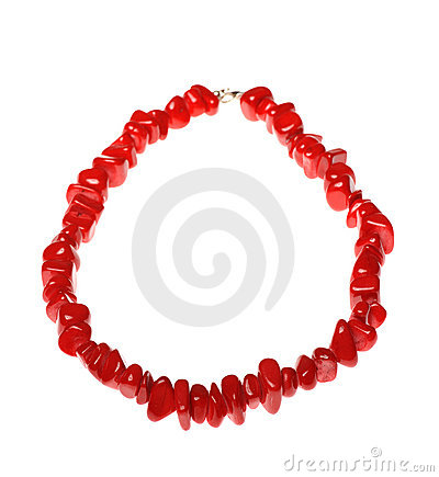 Red neclklace
